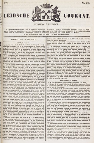 Leydse Courant 1876-12-07