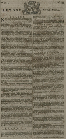 Leydse Courant 1743-11-29