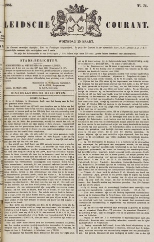 Leydse Courant 1885-03-25