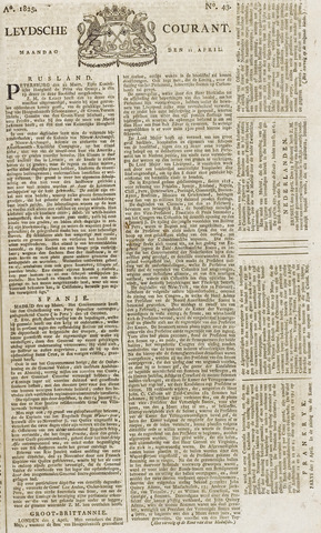 Leydse Courant 1825-04-11