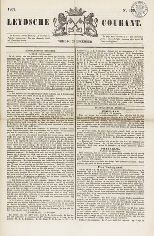 Leydse Courant 1862-12-26