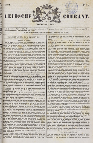 Leydse Courant 1882-03-01