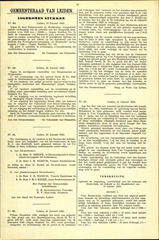 Handelingen van de Raad 1923-01-19