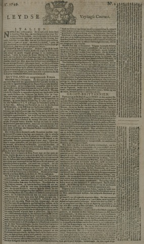 Leydse Courant 1749-01-03
