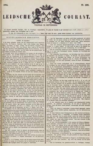 Leydse Courant 1884-09-26