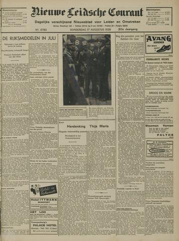 Nieuwe Leidsche Courant 1939-08-17