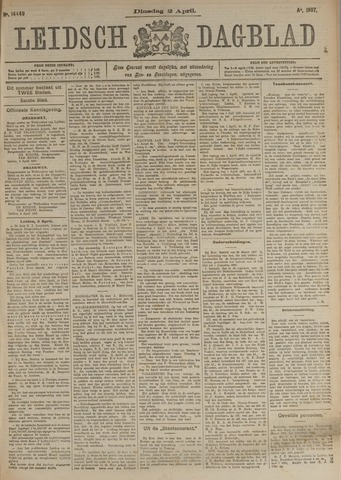 Leidsch Dagblad 1907-04-02