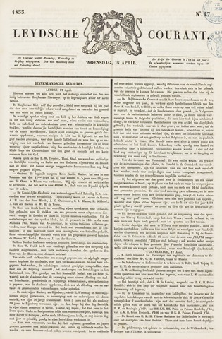 Leydse Courant 1855-04-18