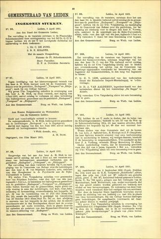 Handelingen van de Raad 1931-04-08