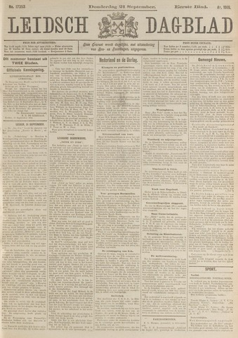 Leidsch Dagblad 1916-09-21