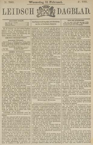 Leidsch Dagblad 1885-02-11