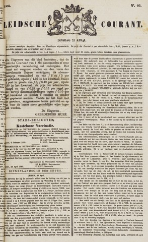 Leydse Courant 1885-04-21