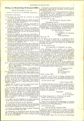 Handelingen van de Raad 1907-01-10