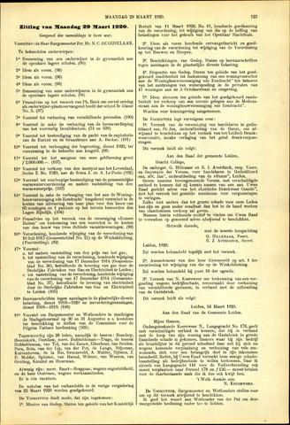 Handelingen van de Raad 1920-03-29