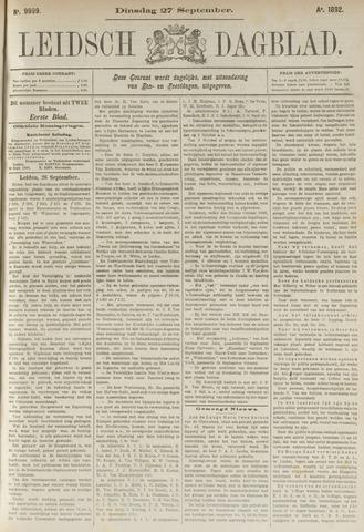 Leidsch Dagblad 1892-09-27