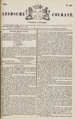 Leydse Courant 1884-11-05