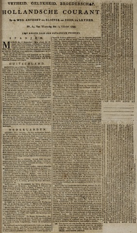 Leydse Courant 1795-10-14