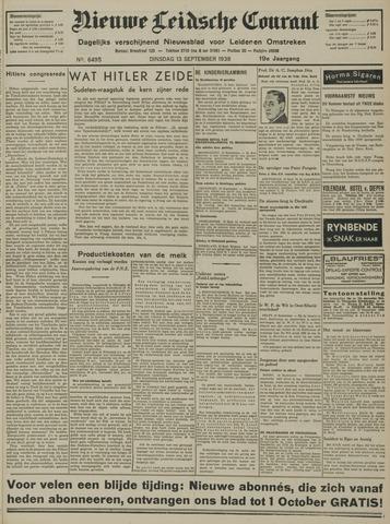 Nieuwe Leidsche Courant 1938-09-13