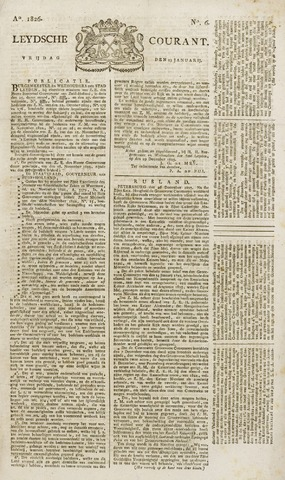 Leydse Courant 1826-01-13