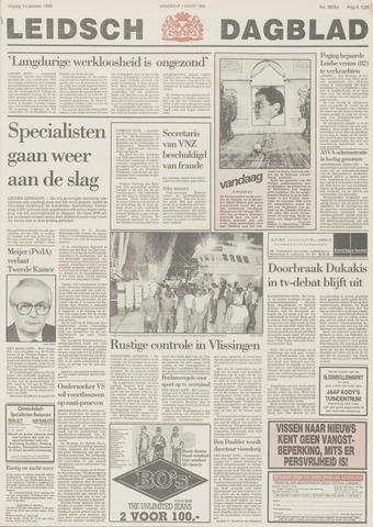 Leidsch Dagblad 1988-10-14