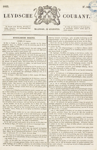 Leydse Courant 1853-08-29