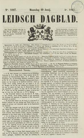 Leidsch Dagblad 1863-06-29