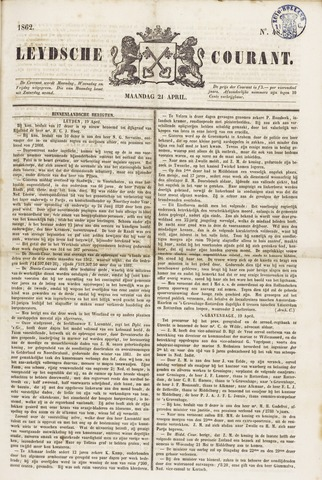 Leydse Courant 1862-04-21