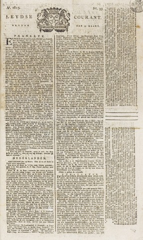 Leydse Courant 1815-03-31