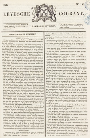 Leydse Courant 1846-11-23