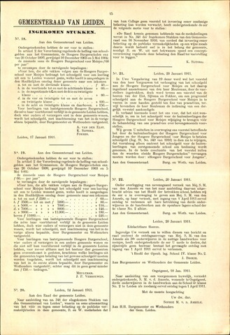 Handelingen van de Raad 1911-01-17