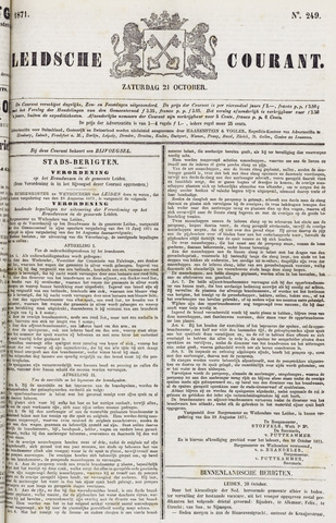 Leydse Courant 1871-10-21