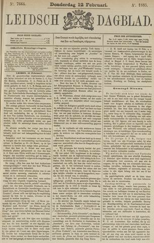 Leidsch Dagblad 1885-02-12