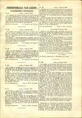 Handelingen van de Raad 1909-02-01