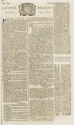 Leydse Courant 1814-06-01
