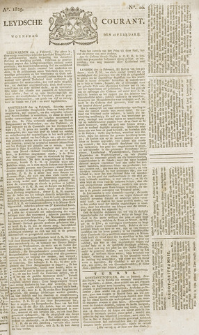 Leydse Courant 1825-02-16
