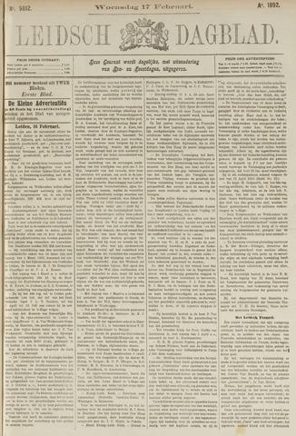 Leidsch Dagblad 1892-02-17