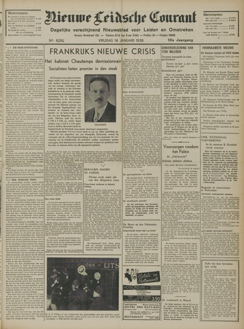 Nieuwe Leidsche Courant 1938-01-14