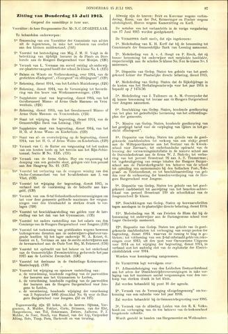 Handelingen van de Raad 1915-07-15
