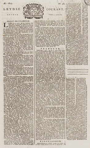 Leydse Courant 1815-04-21