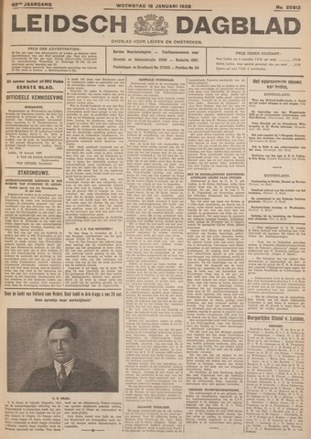 Leidsch Dagblad 1928-01-18