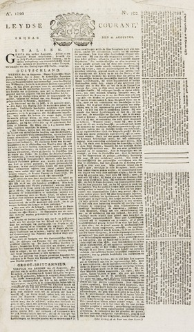 Leydse Courant 1820-08-25
