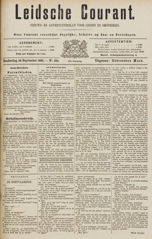 Leydse Courant 1885-09-24