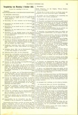 Handelingen van de Raad 1933-10-02