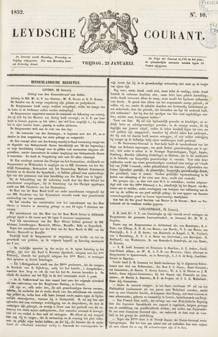 Leydse Courant 1852-01-23