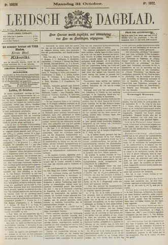 Leidsch Dagblad 1892-10-31