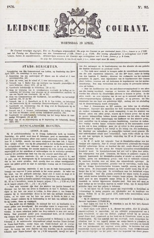 Leydse Courant 1876-04-19