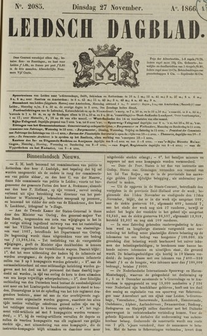Leidsch Dagblad 1866-11-27