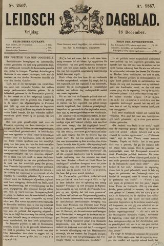 Leidsch Dagblad 1867-12-13