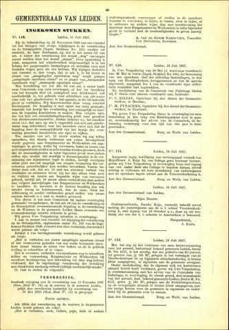 Handelingen van de Raad 1927-07-15