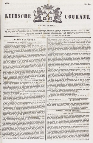 Leydse Courant 1876-04-21
